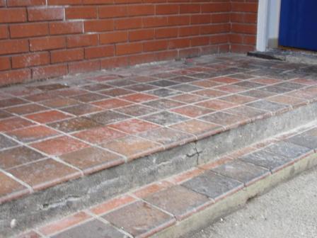 External Quarry Tile Floors Before