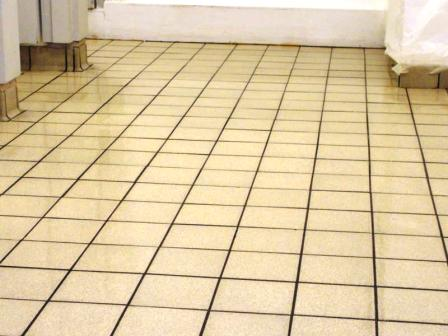 Tiled Stone Floor After