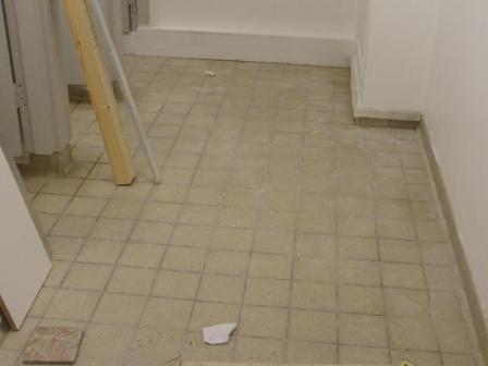 Tiled Stone Floor Before