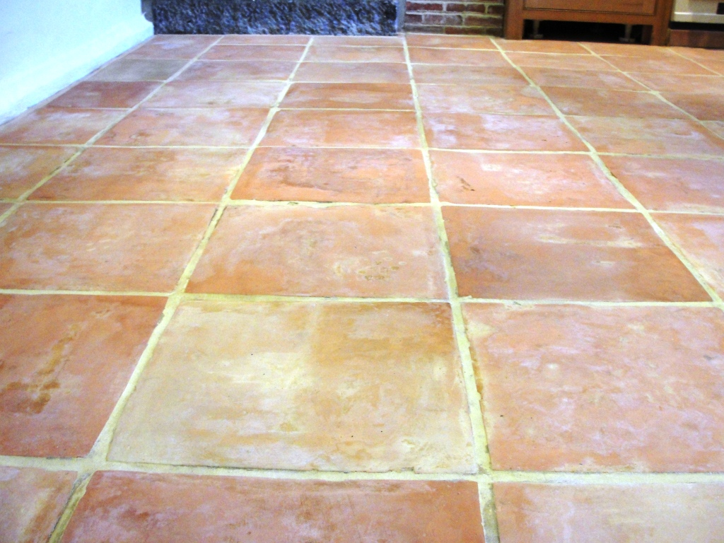 Saltillo Terracotta Floor After Cleaning