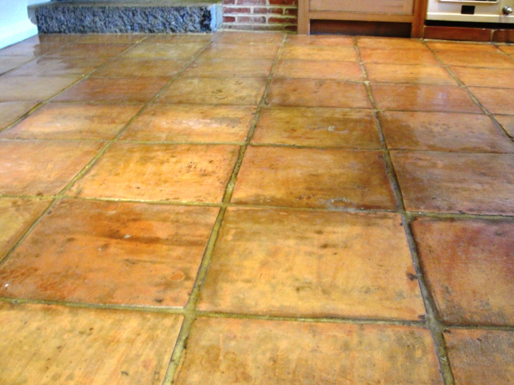 Saltillo Terracotta Floor Before