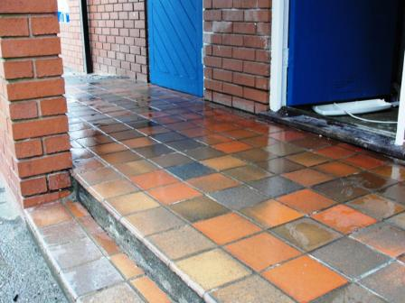 External Quarry Tile Floors After