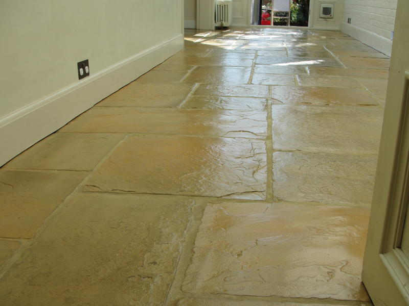 Flagstone Floor After