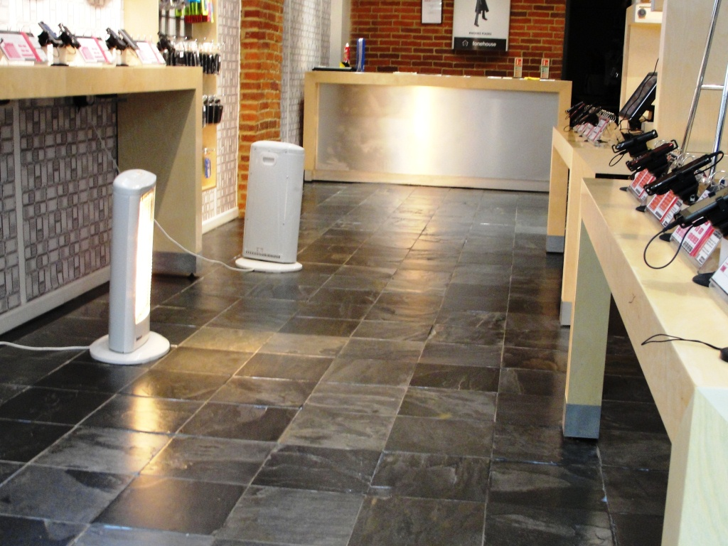 Slate Floor London Phone Shop After