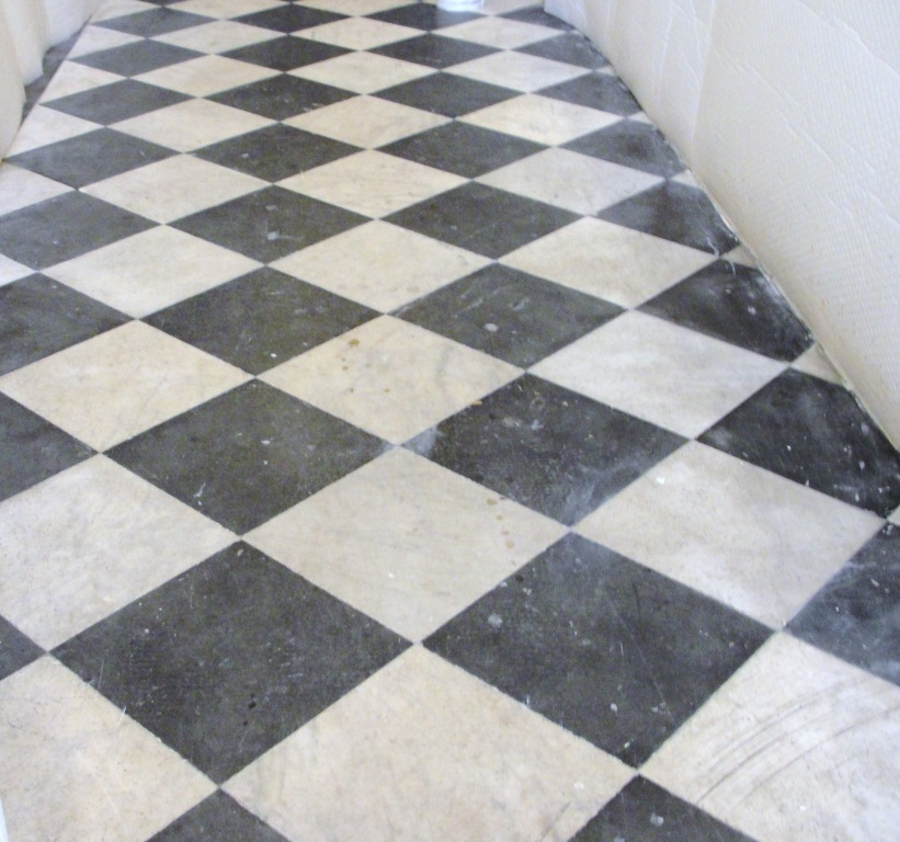 Marble Corridor Before Cleaning