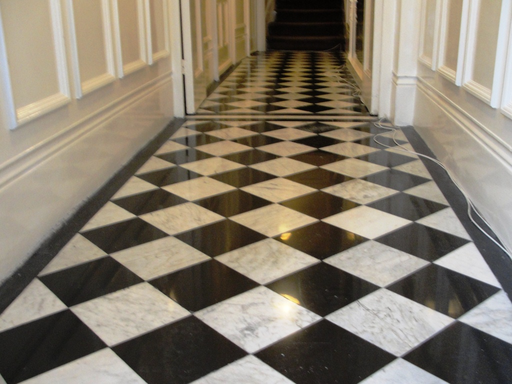Marble Corridor after Cleaning and polishing
