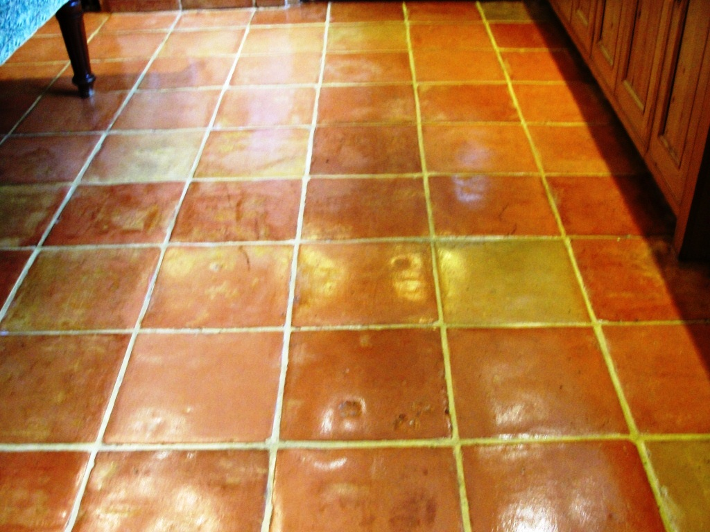 Saltillo Terracotta Floor After Sealing