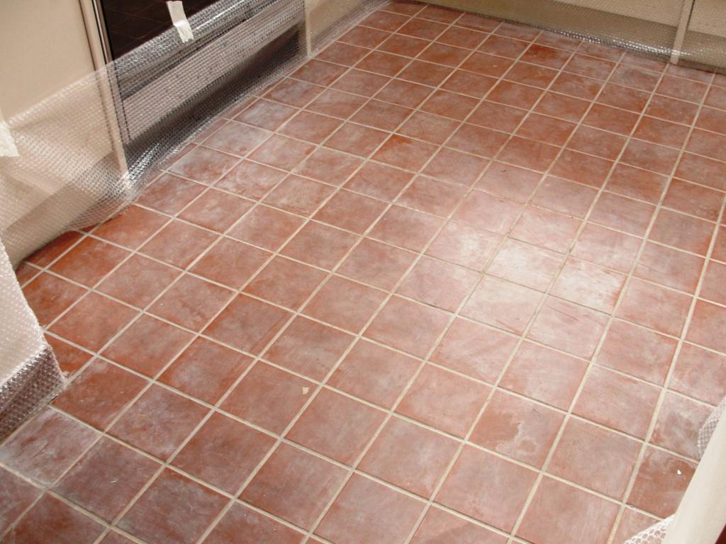 Quarry Tiles with Grout Haze