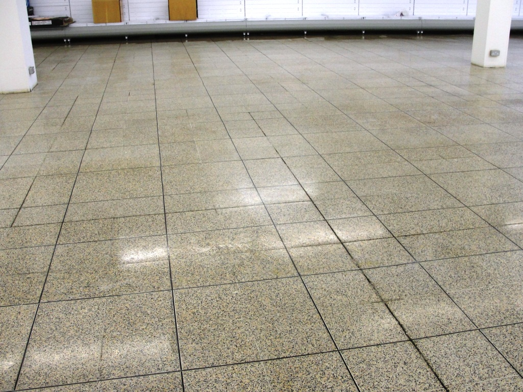 Terrazzo Tiles Dagenham Food Hall After Cleaning