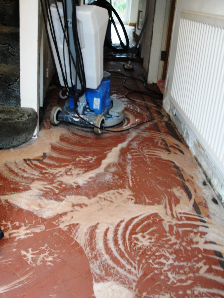 Terracotta Tiles in Chingford During Cleaining