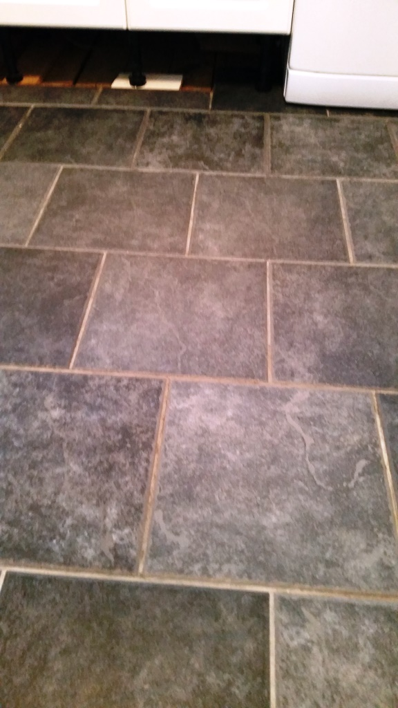 Ceramic tiles before cleaning and colouring in canvey island