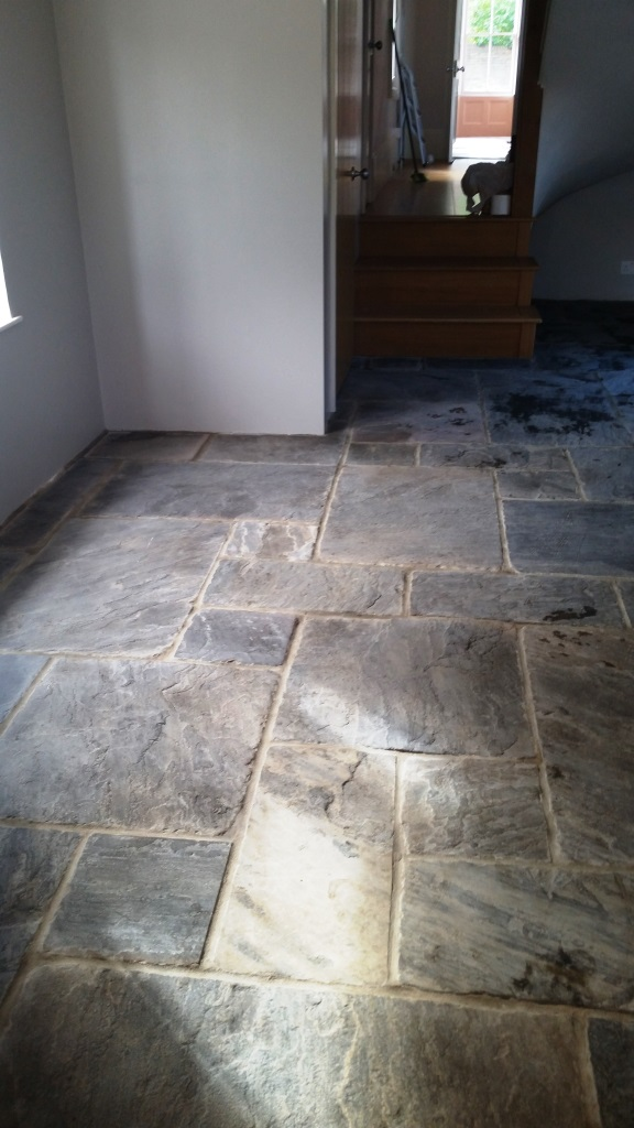 Flagstone Floor After Cleaning Maldon