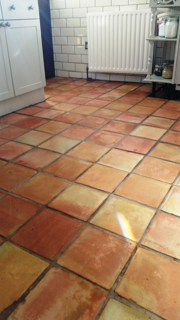 Terracotta Tile After Cleaning Wickford
