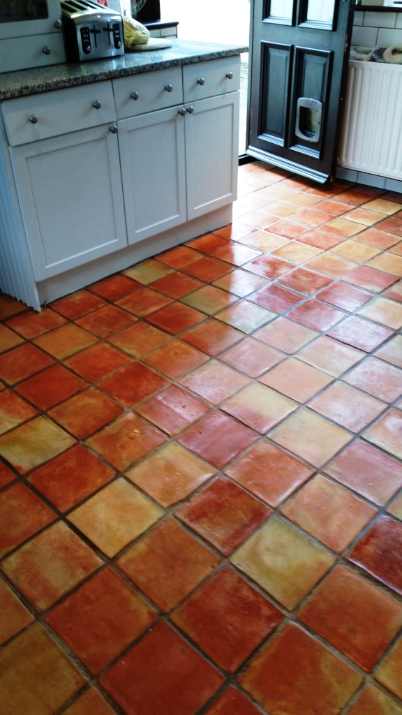 Terracotta Tile After Sealing Wickford