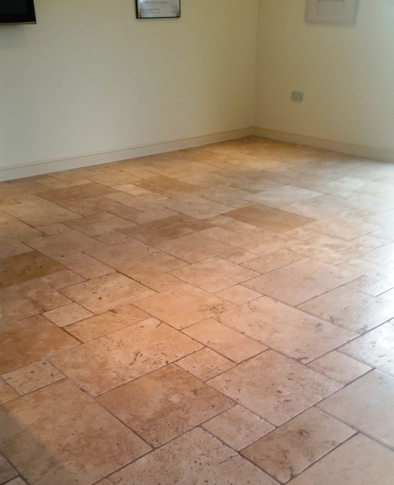 Travertine floor After Cleaning Dunmow