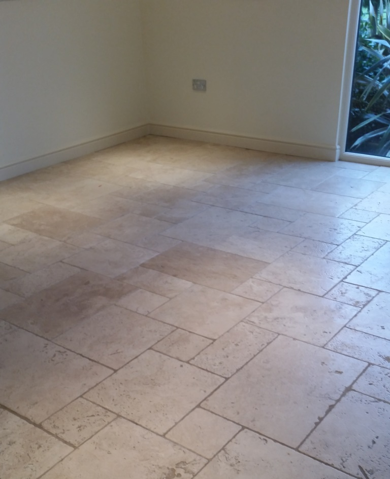 Travertine floor Before Cleaning Dunmow