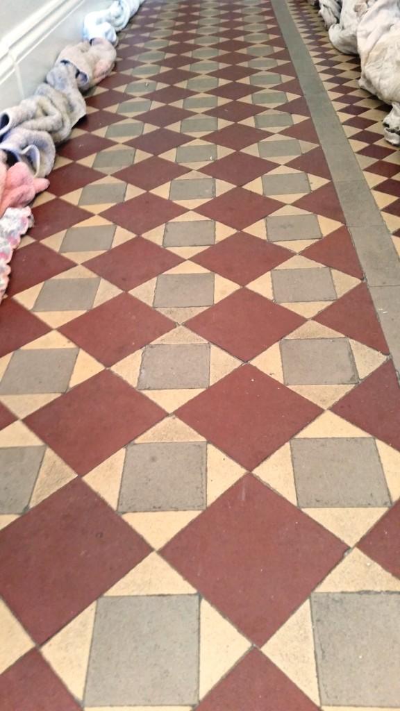 Dirty victorian floor before cleaning Mersea Island
