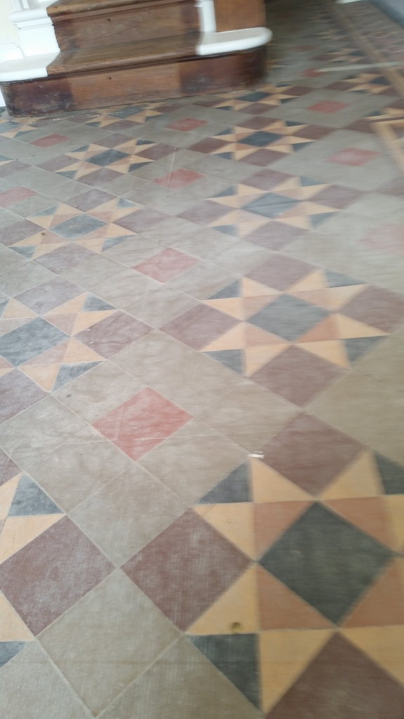 Victorian floor before cleaning Westcliffe on Sea